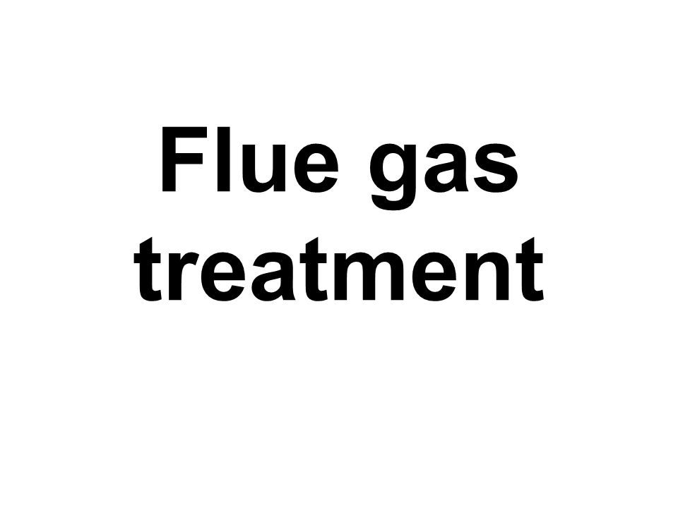Flue gas treatment