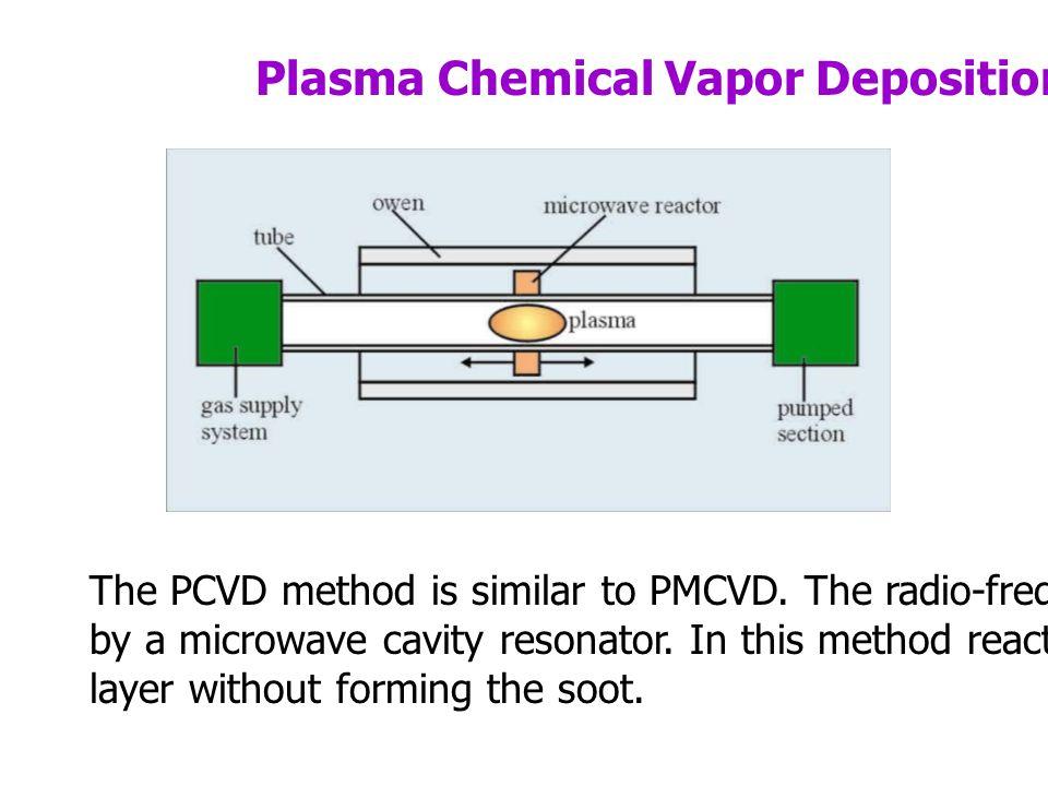 Plasma Chemical Vapor Deposition (PCVD) The PCVD method is similar to PMCVD.