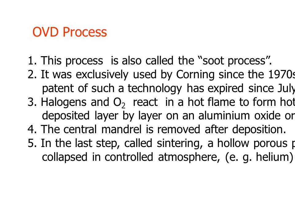 1. This process is also called the soot process .