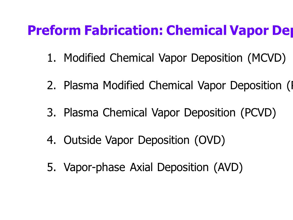 1.All these methods are based on thermal chemical vapor reaction that forms oxides 2.