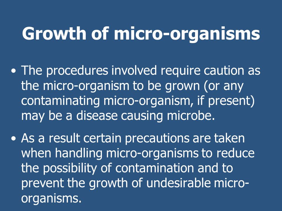 Learning Check What growth medium is used for micro- organisms.