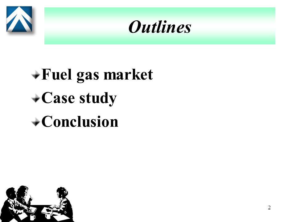 2 Outlines Fuel gas market Case study Conclusion