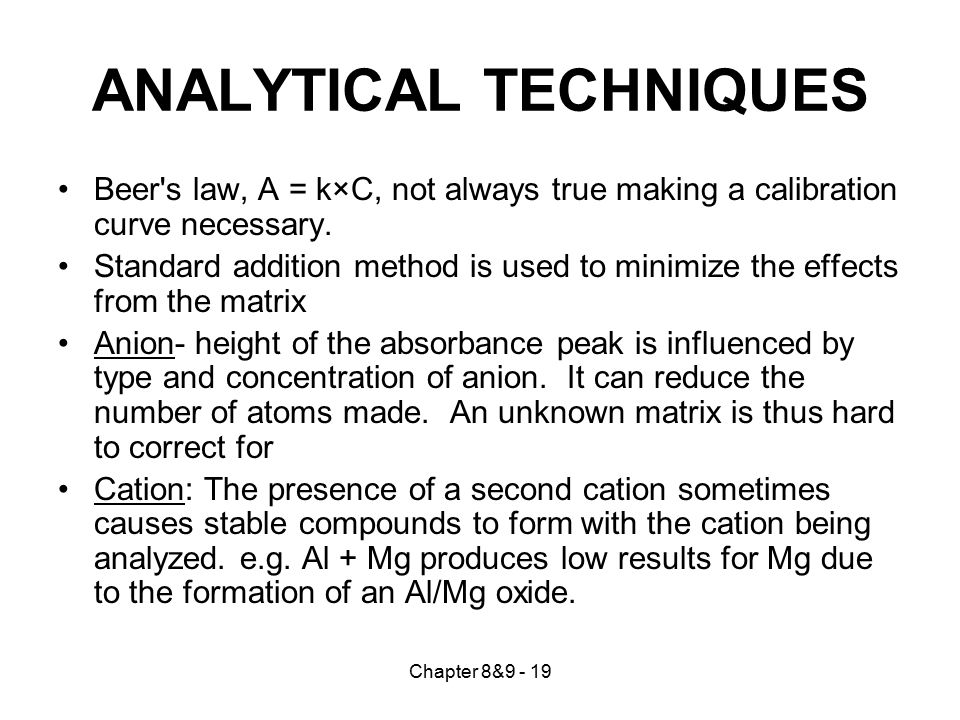 Chapter 8&9 - 20 Sample Problem The nickel content in river water was determined by AA analysis after 5.00 L was trapped by ion exchange.