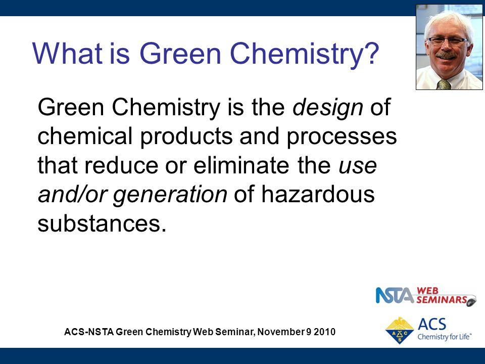 ACS-NSTA Green Chemistry Web Seminar, November 9 2010 Procedure for Clock Reaction
