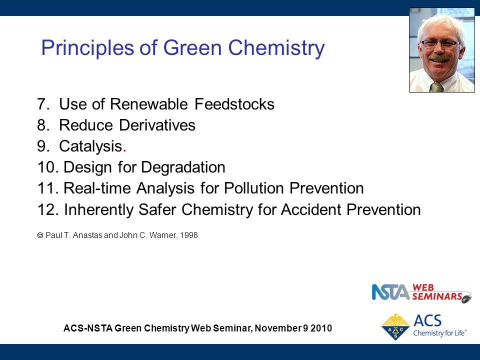 ACS-NSTA Green Chemistry Web Seminar, November 9 2010 A Convenient Liquid CO 2 Extraction of a Natural Product