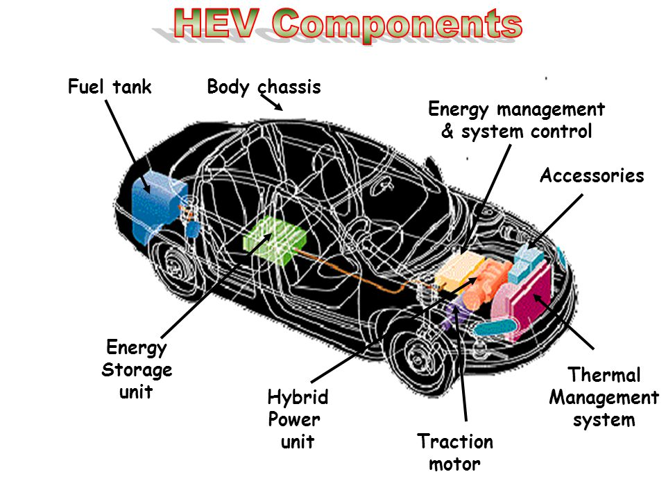 Thermal Management system Hybrid Power unit Traction motor Energy Storage unit Accessories Fuel tankBody chassis Energy management & system control
