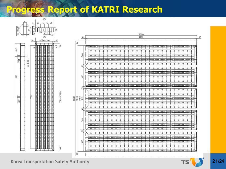 Progress Report of KATRI Research 21/24