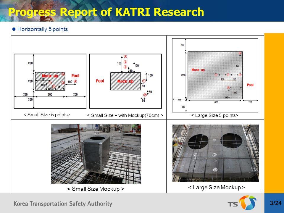 3/24 Progress Report of KATRI Research Horizontally 5 points