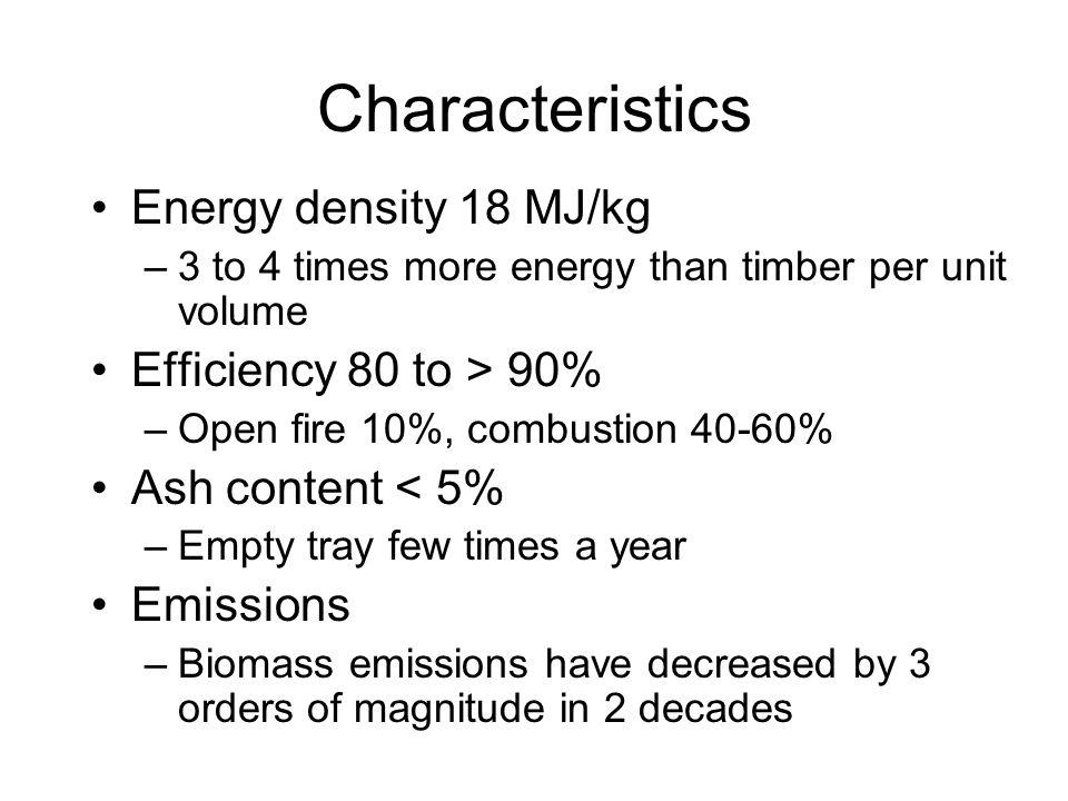 Historical emissions improvement - measured biomass heater in Austria Source : Rakos (2002)