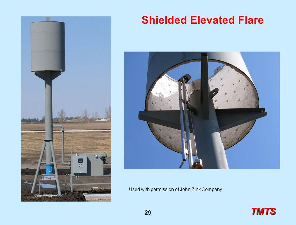 TMTS 29 Shielded Elevated Flare Used with permission of John Zink Company