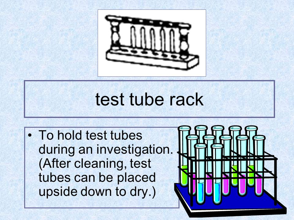 test tube brush To clean the insides of test tubes after investigations