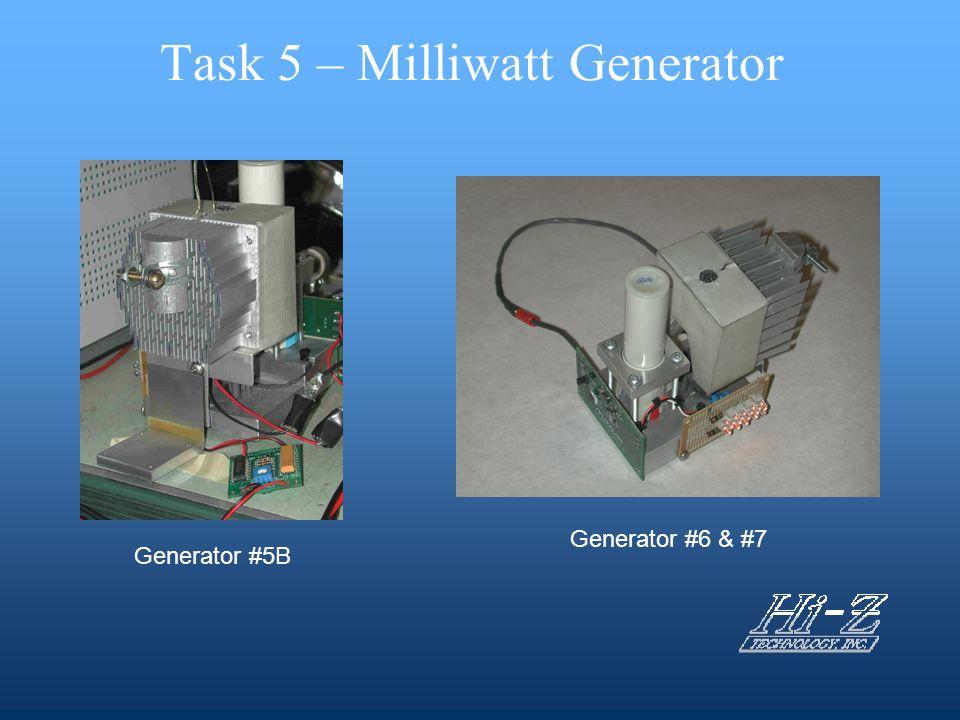 Task 5 – Milliwatt Generator Generator #5B Generator #6 & #7