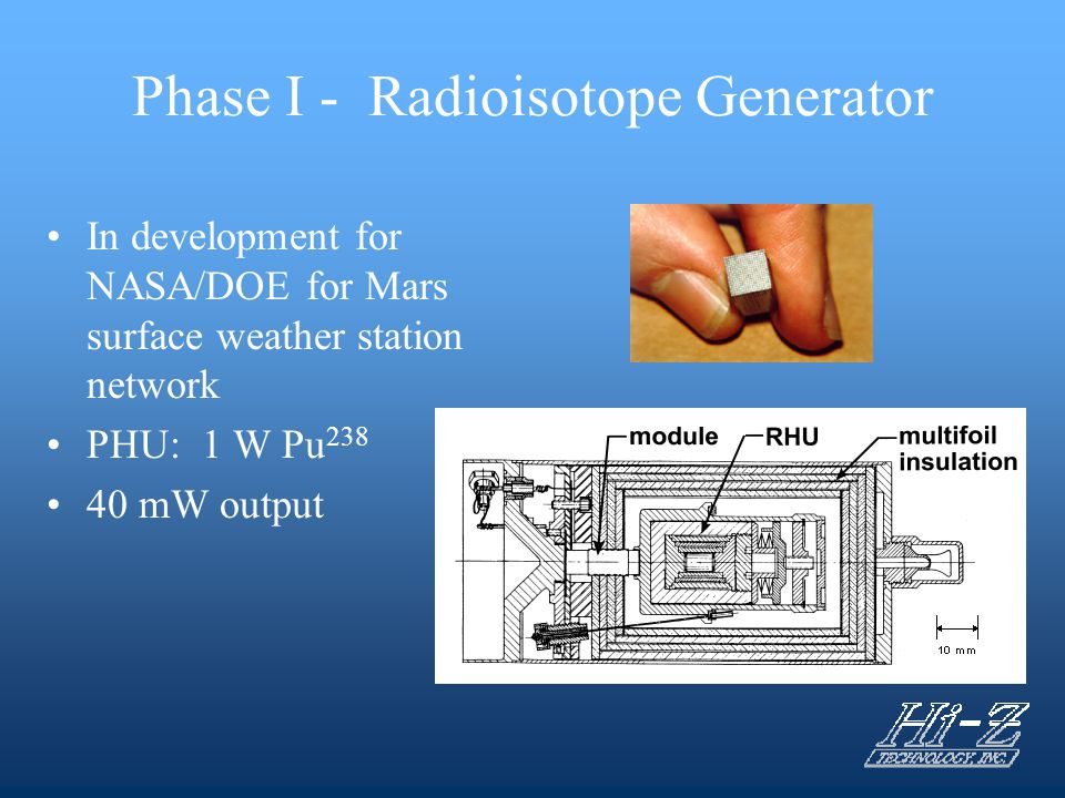 Task 8 – Heat of Phase Change (Molten Salt) Generator Detailed generator design completed Phase change material selected after further tests: LiNO 3
