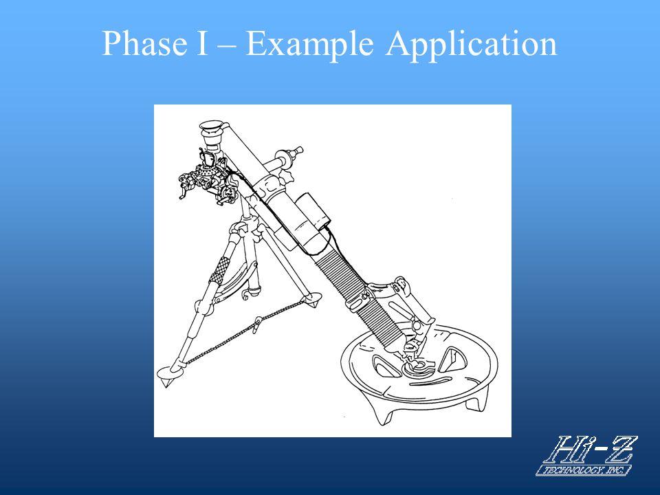 Phase I – Example Application