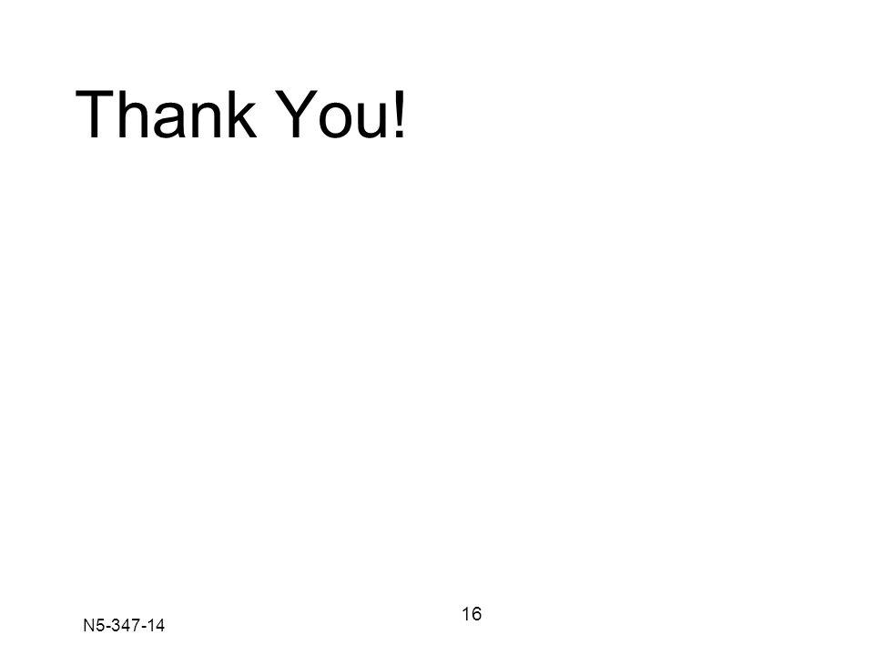 N5-347-14 Thank You! 16