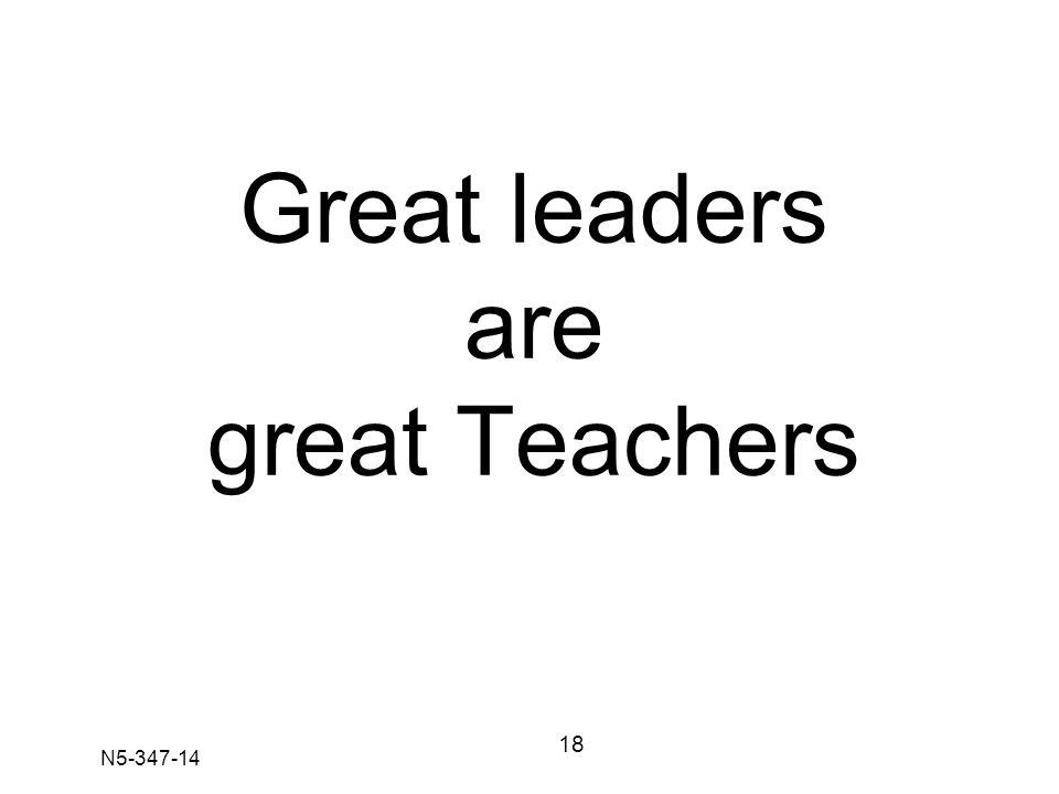N5-347-14 Great leaders are great Teachers 18