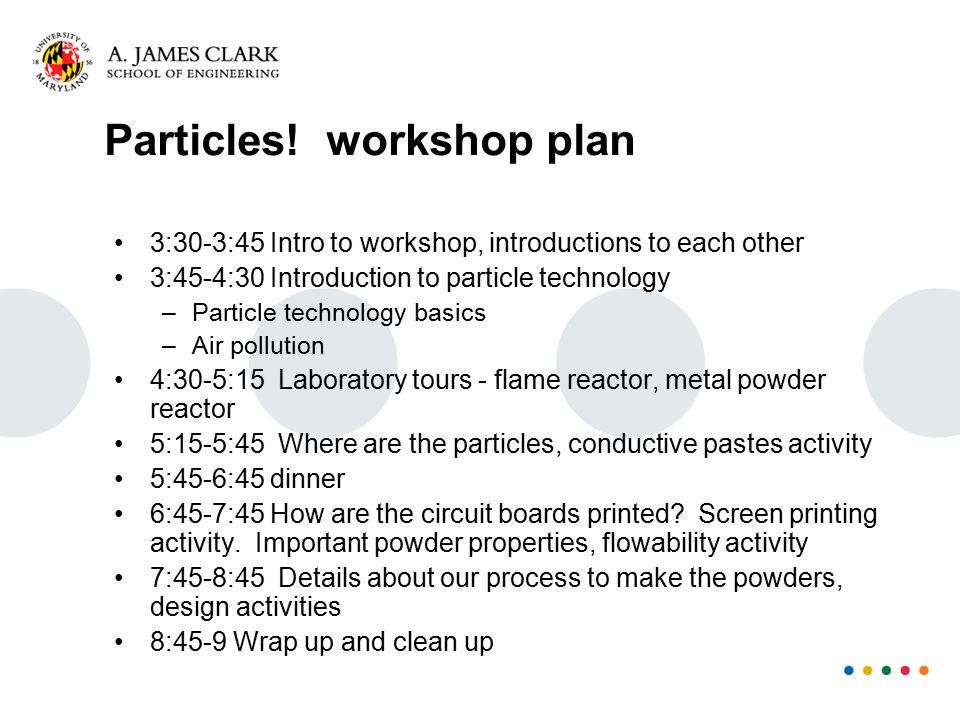 Particles.