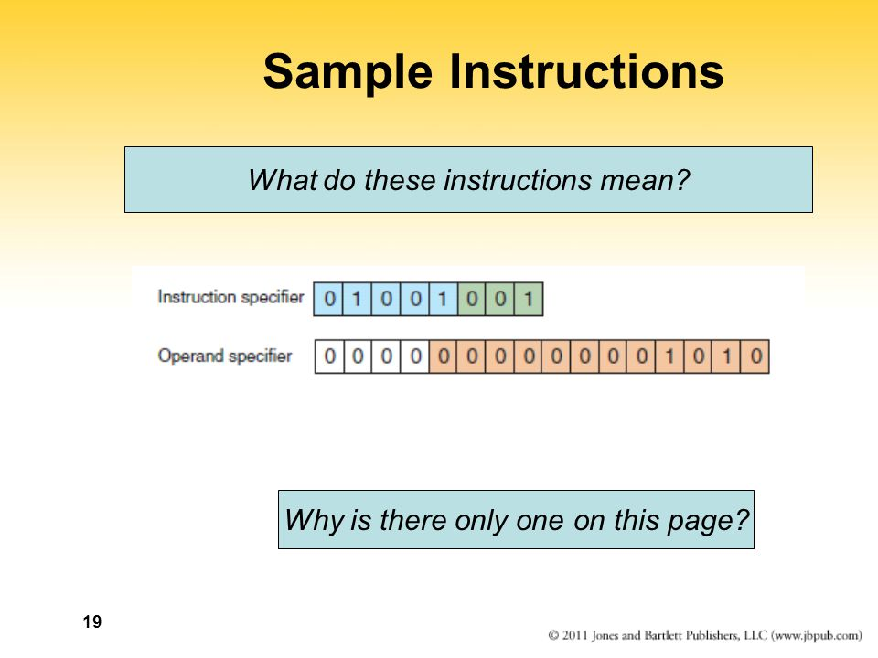 19 Sample Instructions What do these instructions mean Why is there only one on this page