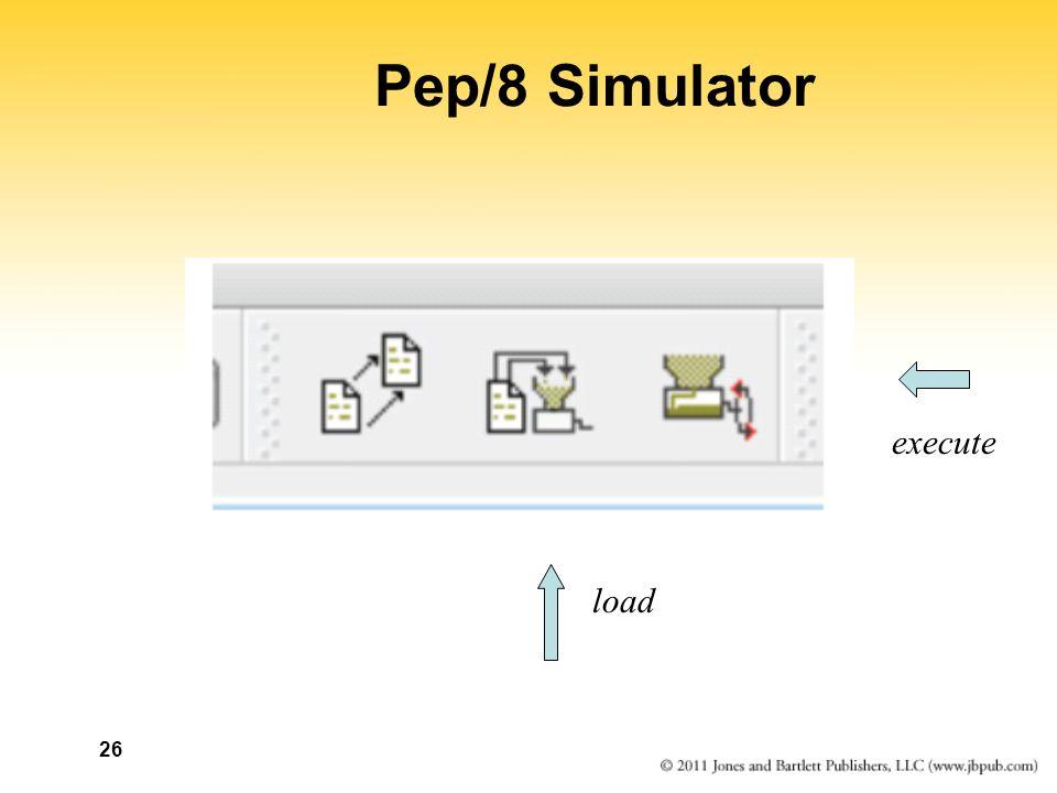 26 Pep/8 Simulator load execute