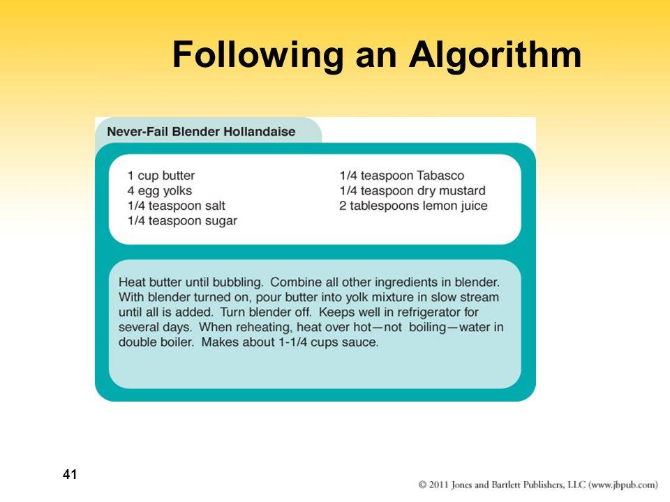 41 Following an Algorithm