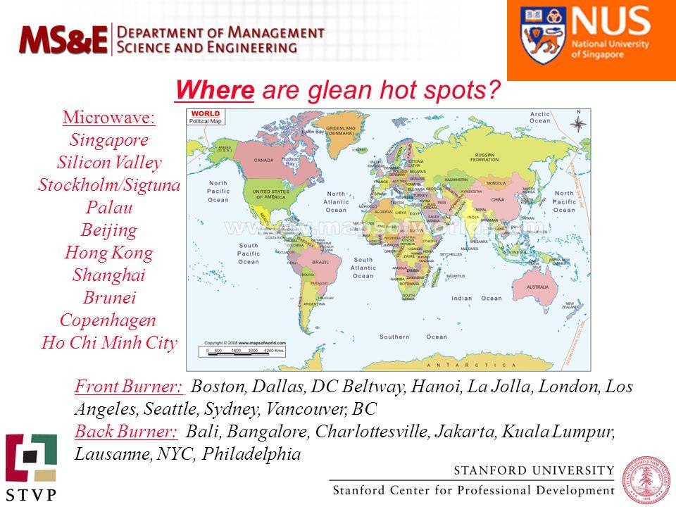Where are glean hot spots.