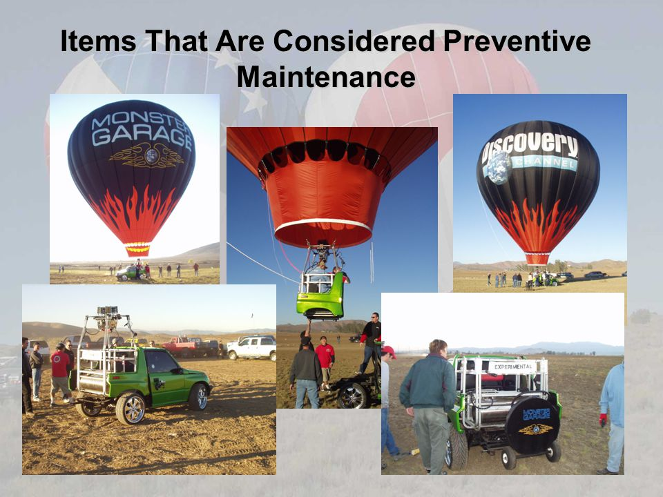 Items That Are Considered Preventive Maintenance
