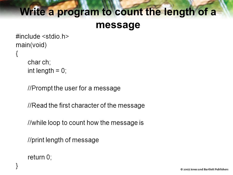 Pseudocode But remember, even comments are different in various languages.