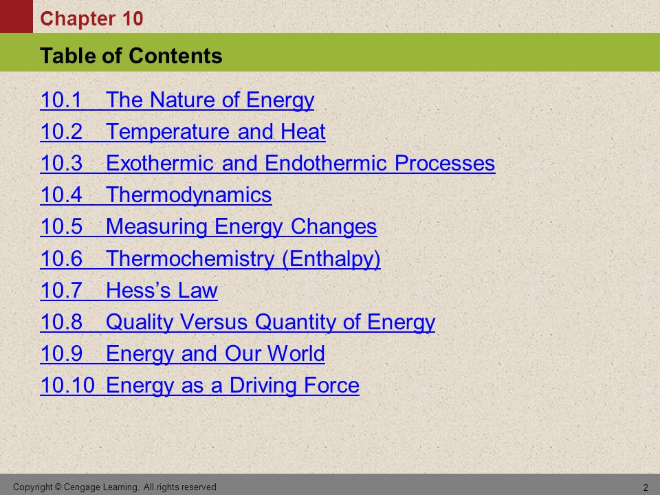 Chapter 10 Table of Contents Copyright © Cengage Learning.
