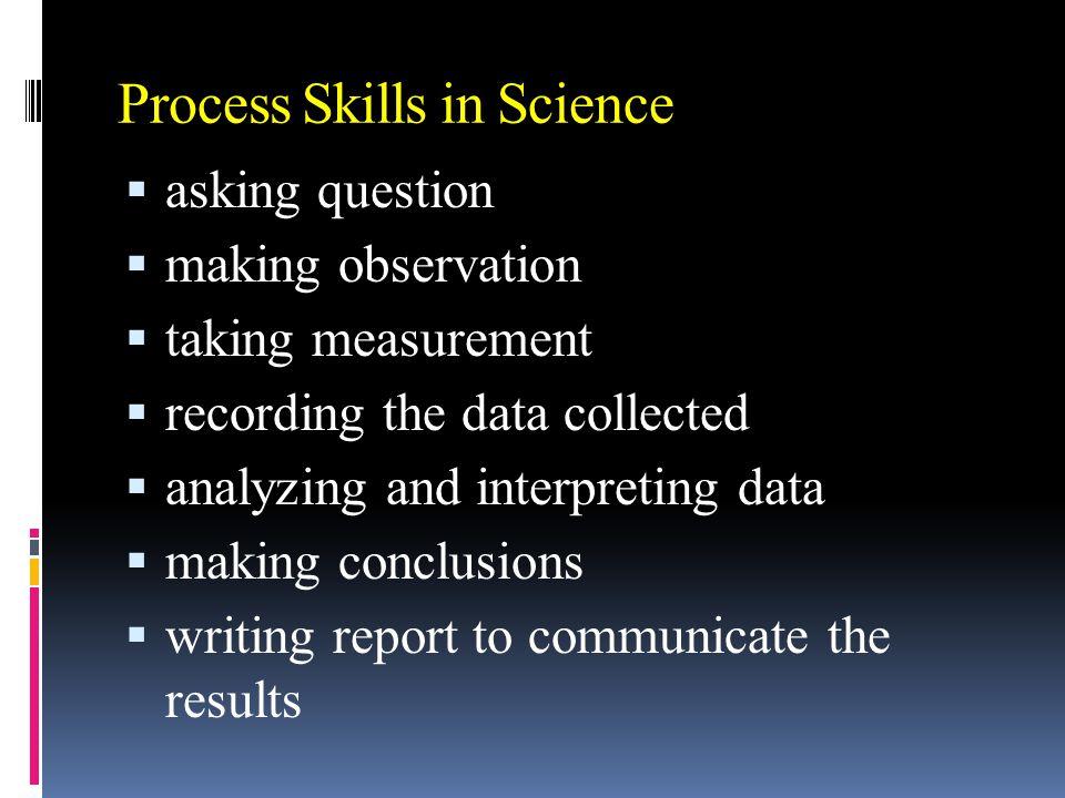 1.3 Steps in scientific investigation