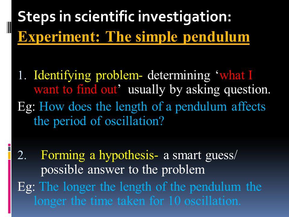 Simple pendulum One Complete Oscillation