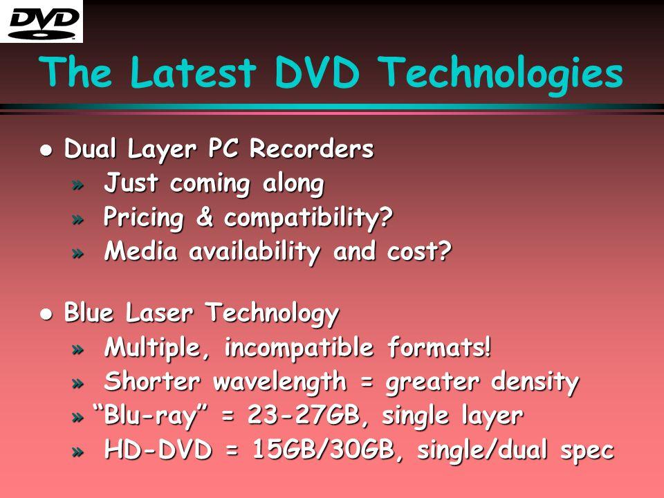 DVD Concepts l l DVD Video l l DVD-ROM l l DVD Media l DVD-RW l DVD+RW l DVD-RAM l l DVD-Audio