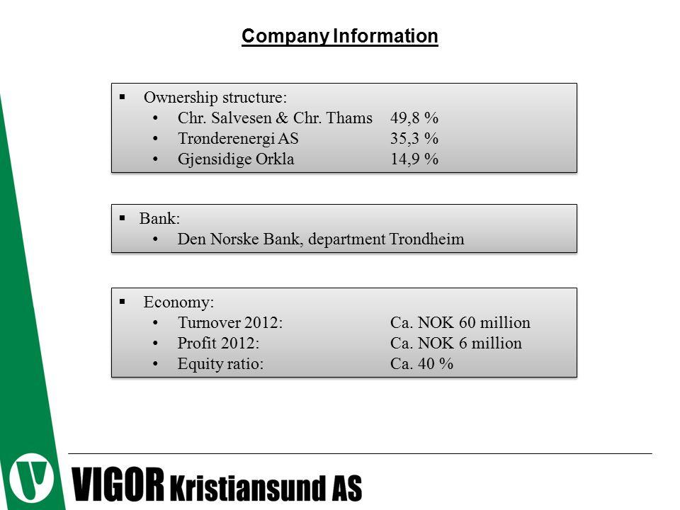 Company Information  Ownership structure: Chr. Salvesen & Chr.