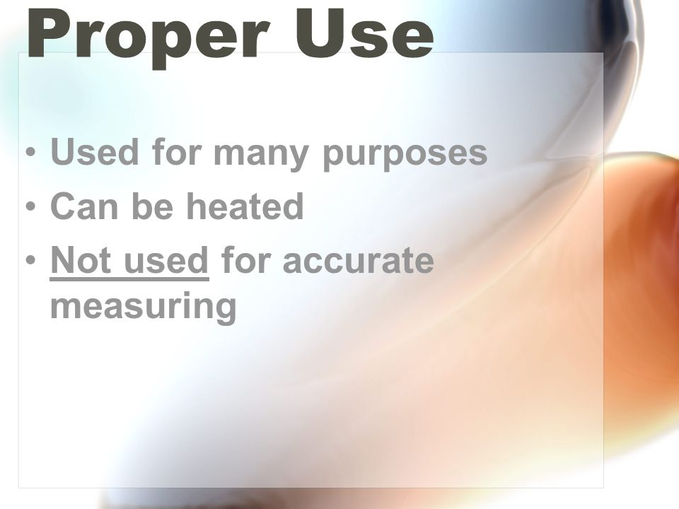 Proper Use To measure mass of an object To measure applied force