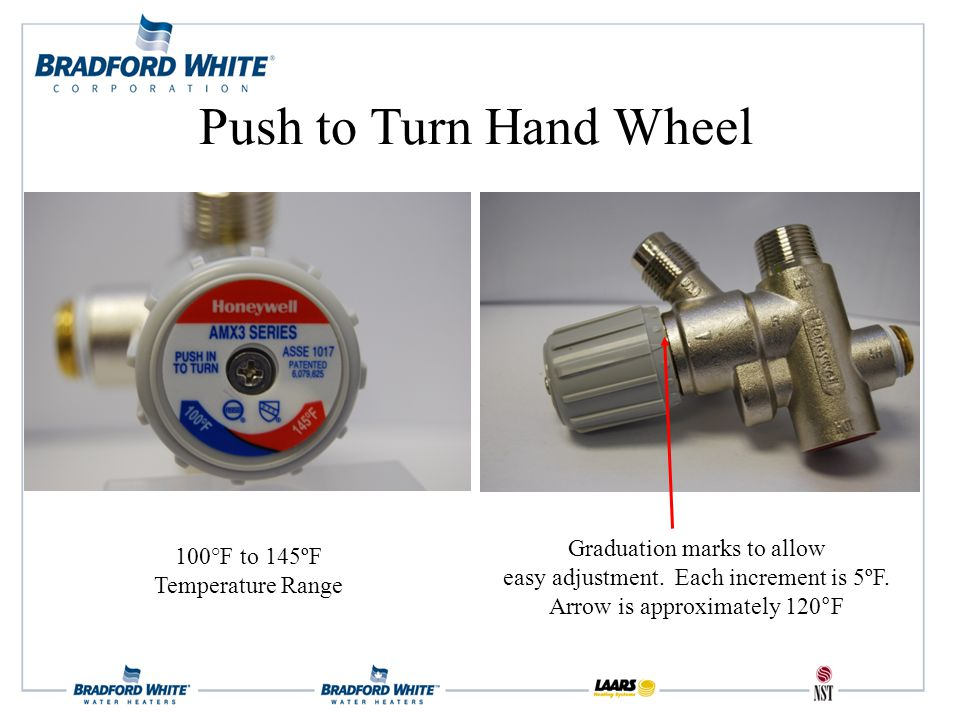 100°F to 145ºF Temperature Range Graduation marks to allow easy adjustment.