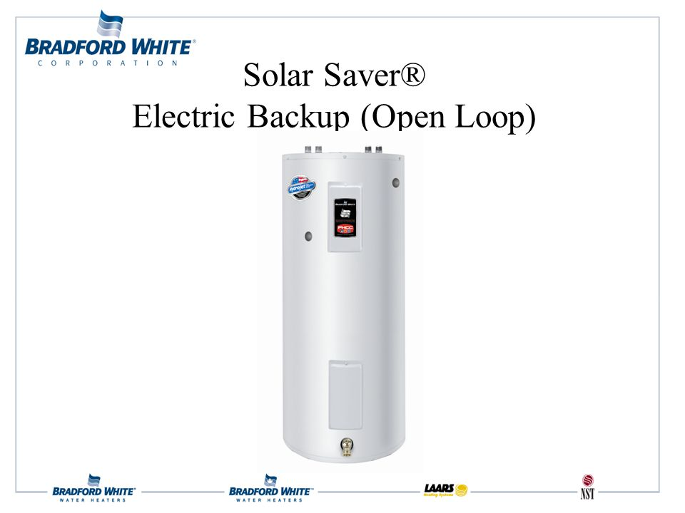 Solar Saver® Electric Backup (Open Loop)