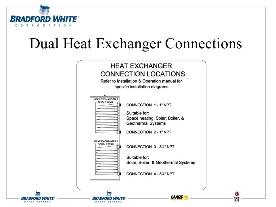 Dual Heat Exchanger Connections