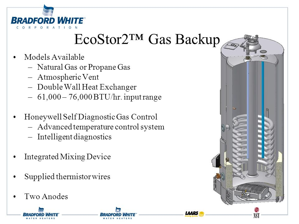 Models Available –Natural Gas or Propane Gas –Atmospheric Vent –Double Wall Heat Exchanger –61,000 – 76,000 BTU/hr.