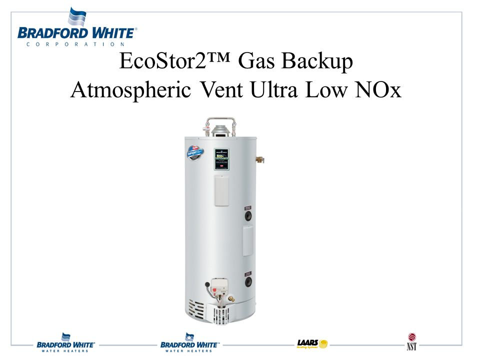 EcoStor2™ Gas Backup Atmospheric Vent Ultra Low NOx