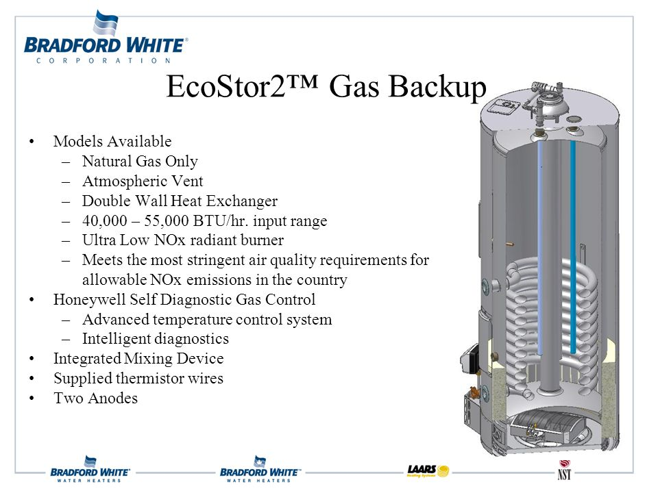 Models Available –Natural Gas Only –Atmospheric Vent –Double Wall Heat Exchanger –40,000 – 55,000 BTU/hr.