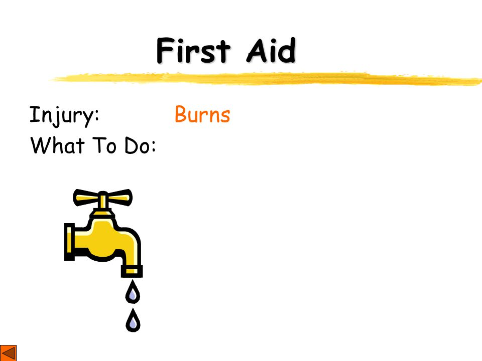 First Aid Injury: Burns What To Do: