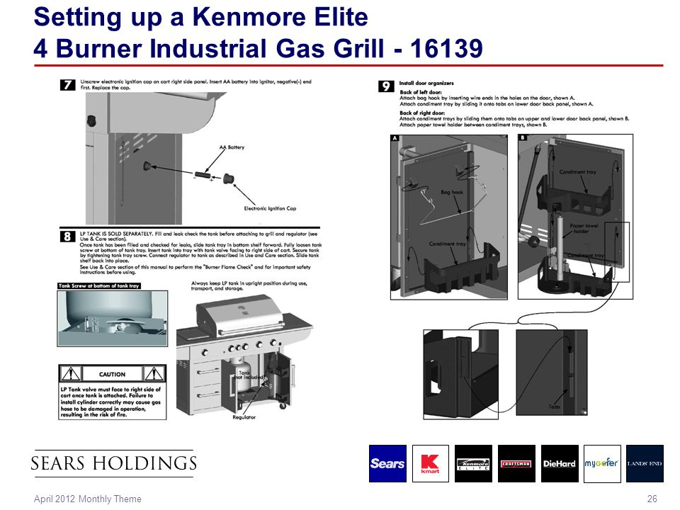 26April 2012 Monthly Theme Setting up a Kenmore Elite 4 Burner Industrial Gas Grill - 16139