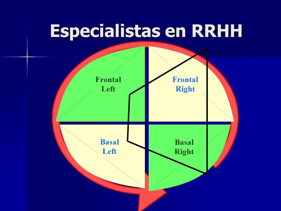 Especialistas en RRHH Frontal Right Frontal Left Basal Left Basal Right