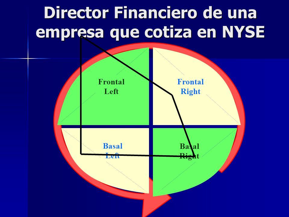 Director Financiero de una empresa que cotiza en NYSE Frontal Right Frontal Left Basal Left Basal Right