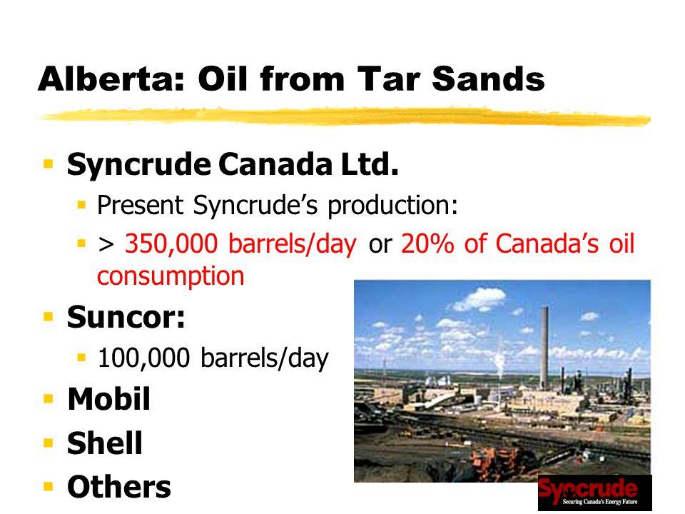Alberta: Oil from Tar Sands  Syncrude Canada Ltd.