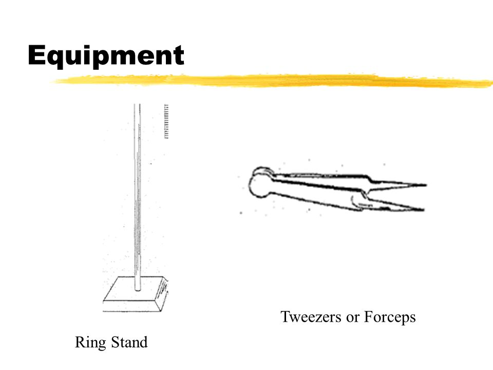 Equipment Ring Stand Tweezers or Forceps