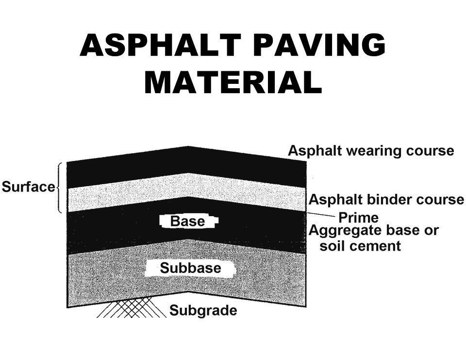 11 ASPHALT PAVING MATERIAL
