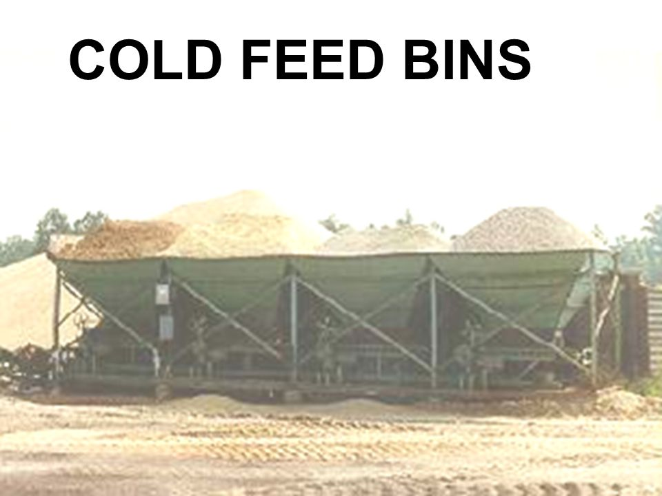 21 COLD FEED BINS