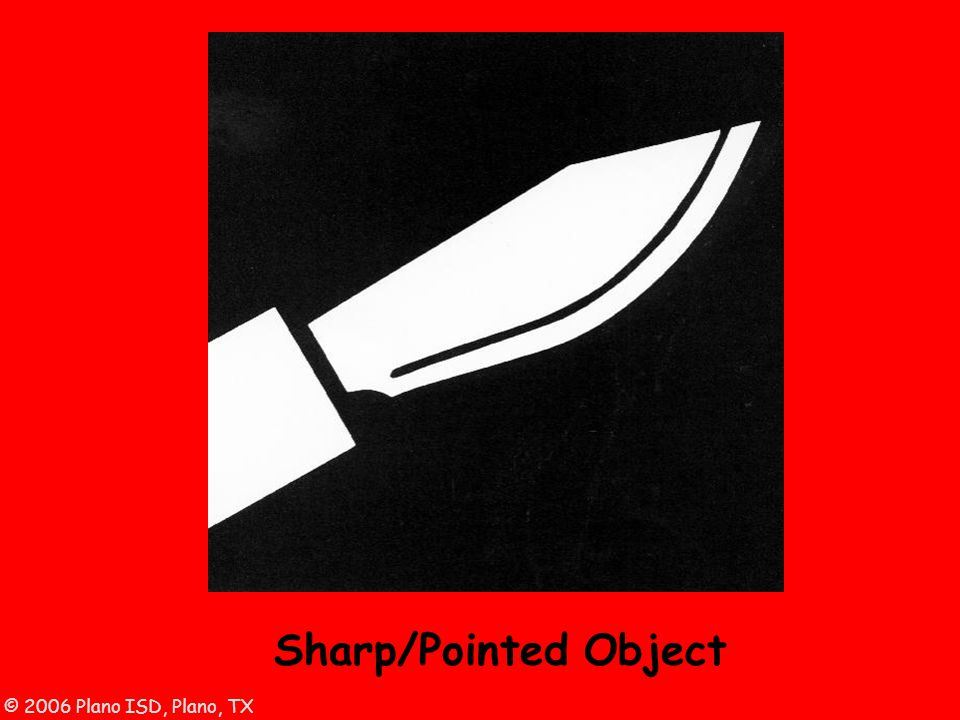 © 2006 Plano ISD, Plano, TX Sharp/Pointed Object