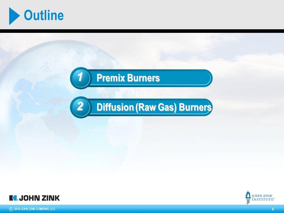 2010 JOHN ZINK COMPANY, LLCC 5 Premix Burner air fuel