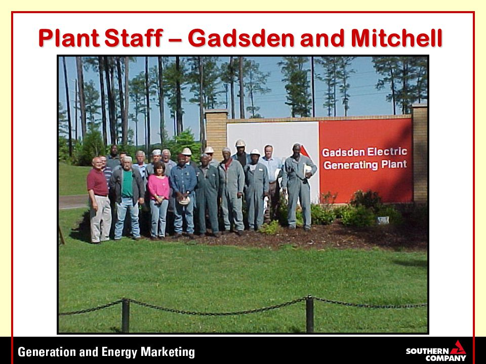 Plant Staff – Gadsden and Mitchell